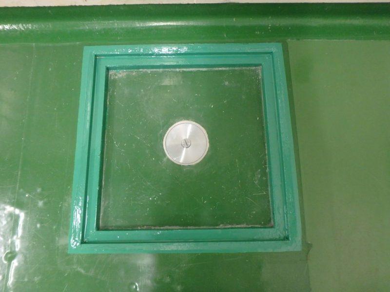 B棟 排水溝周りの床塗装 アフター写真
