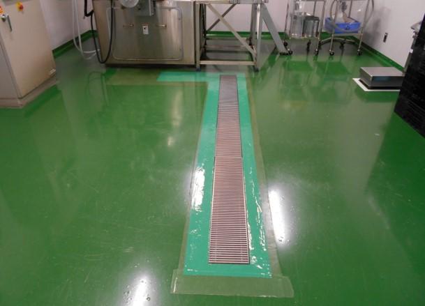 B棟練合造粒室の床補修 アフター写真